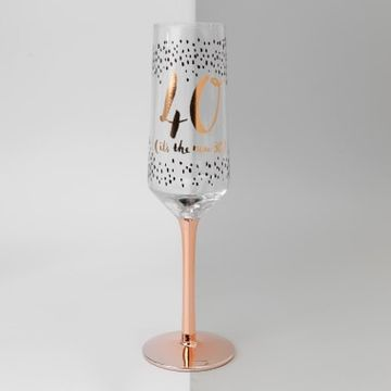 40th Birthday Champagne Flute