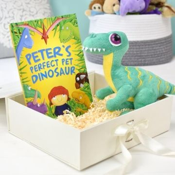 Personalised Perfect Pet Dinosaur Book and Plush Toy Gift Set