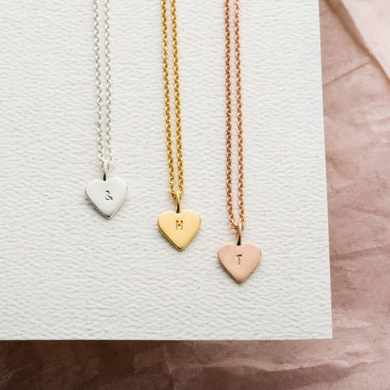 Personalised Mini Heart Charm Necklace