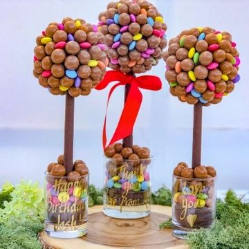Personalised Malteser & Smarties Sweet Tree