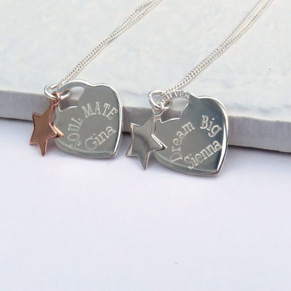 Personalised Heart Charm Necklace
