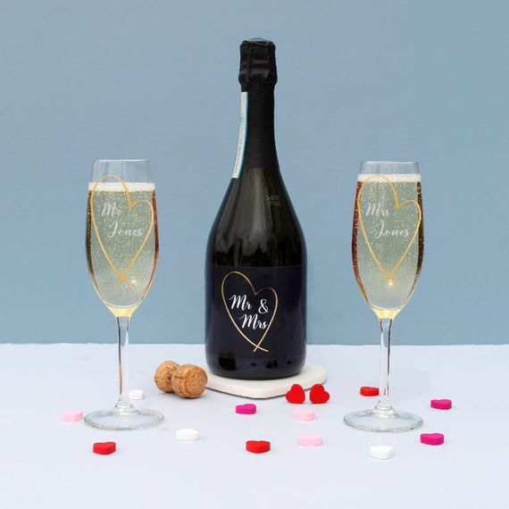 Personalised Mr & Mrs Prosecco Gift Set