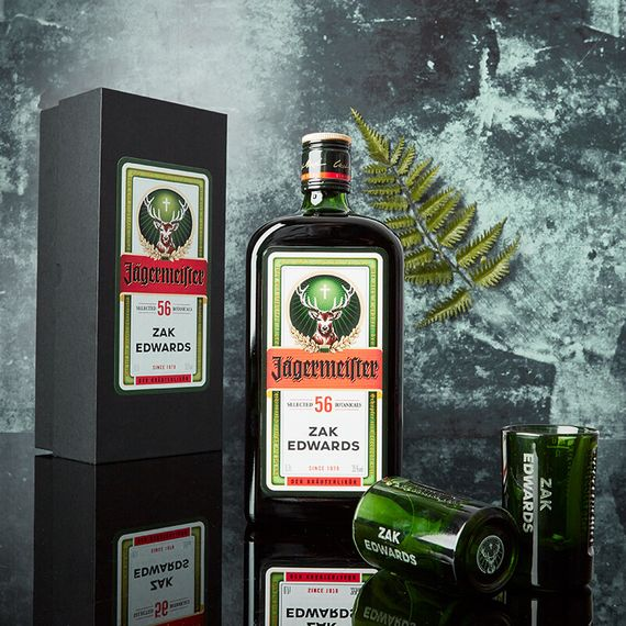Personalised Jagermeister and Shot Glass Gift Set - 70cl