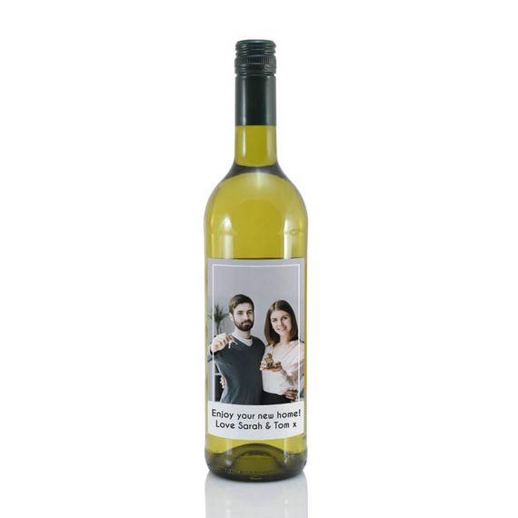 Personalised Photo Label White Wine