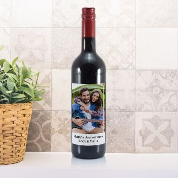 Personalised Photo Label Red Wine