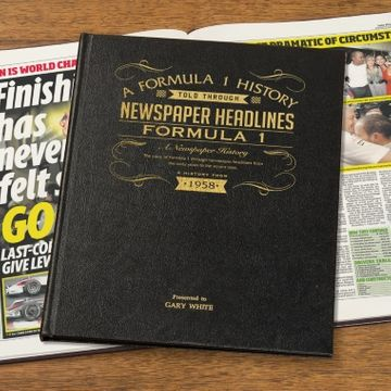Personalised A3 Formula 1 Newspaper Book