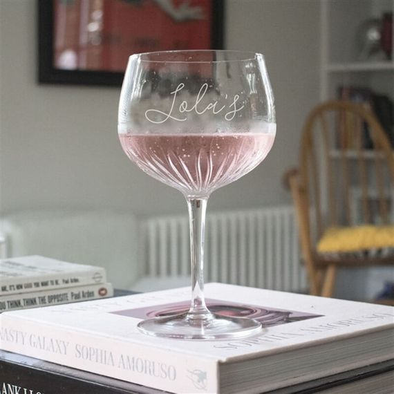 Personalised Crystal Cut Gin Goblet Glass