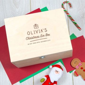 Personalised Do Not Open Christmas Eve Box