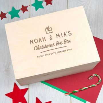 Personalised Large Family Christmas Eve Box