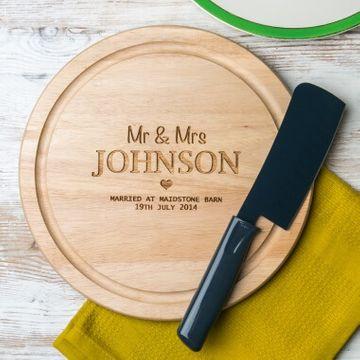 Personalised Wedding Cheese Board
