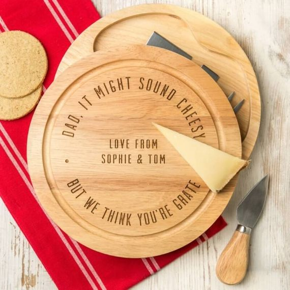 Personalised You're Grate Cheese Board Gift Set