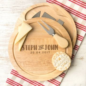 Personalised Couples Cheese Board Set