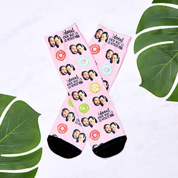 Personalised Donut Know What I'd Do Without You Face Socks