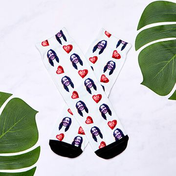 Personalised I Love You Face Socks