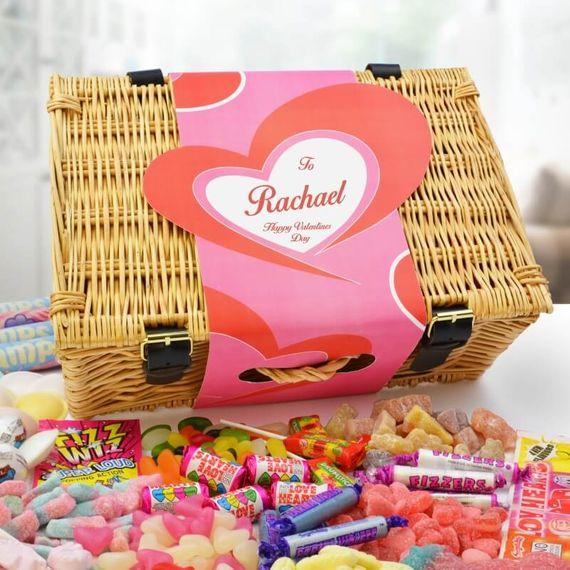 Personalised Heart Sweet Hamper