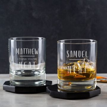 Personalised I Think You're Neat Whisky Tumbler