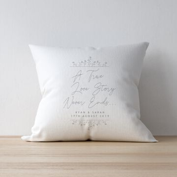 Personalised True Love Story Cushion
