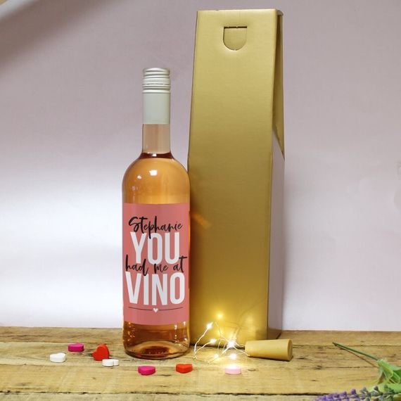 Personalised You Had Me At Vino Wine Gift Set