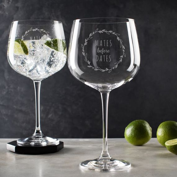 Mates Before Dates Gin Goblet Glass