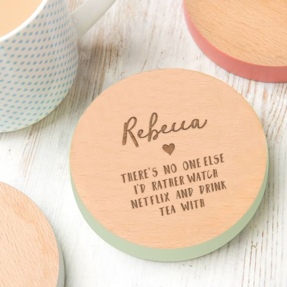 Personalised Netflix and Drink Tea Coaster