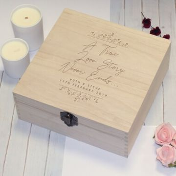 Personalised True Love Story Memory Box