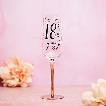 18th Birthday Champagne Flute