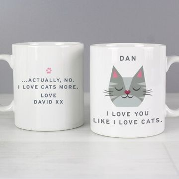 Personalised Love Cats More Mug