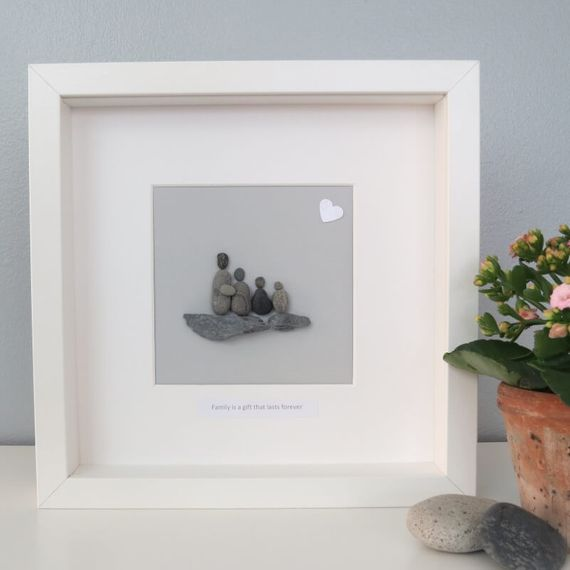 Personalised Pebble Picture Square