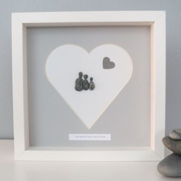 Personalised Heart Pebble Picture