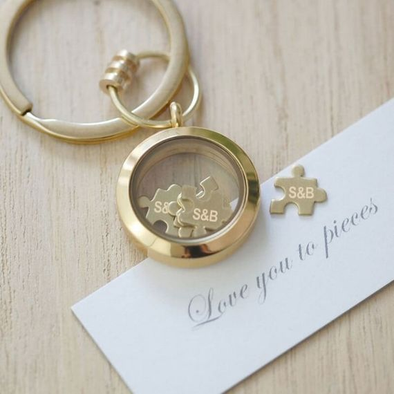 Personalised 'Love You To Pieces' Keyring