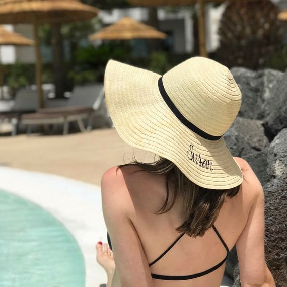 Personalised Embroidered Summer Hat