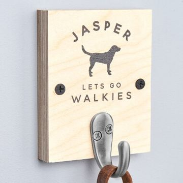 Personalised Single Dog Lead Hook