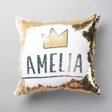 Personalised Crown Sequin Reveal Cushion