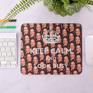 Personalised Keep Calm Photo Mouse Mat