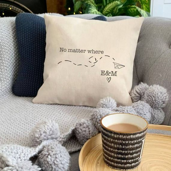 Personalised Long Distance Relationship Cushion