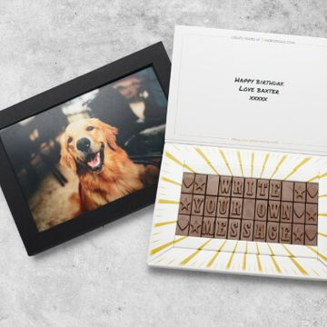 Personalised Chocolate Memory Message