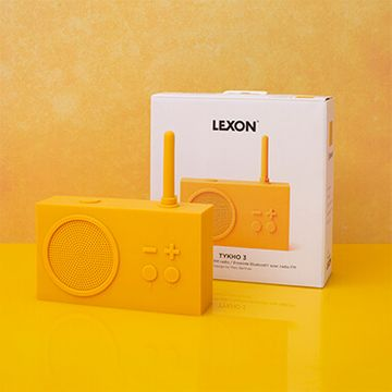 Lexon Tykho Radio & Bluetooth Speaker - Yellow