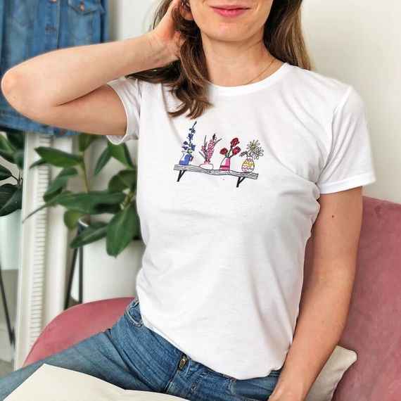Personalised Birth Flower T-shirt