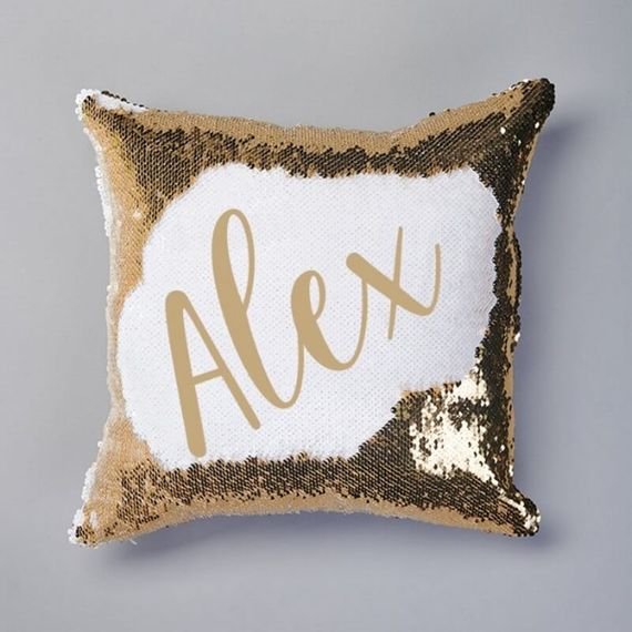 Personalised Name Sequin Reveal Cushion