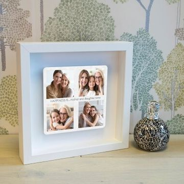 Personalised Mum Photos Box Frame