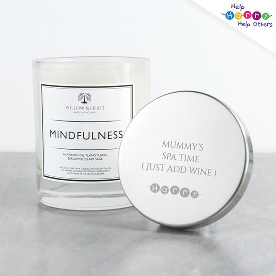 Help Harry Help Others Personalised Candle With Silver Lid
