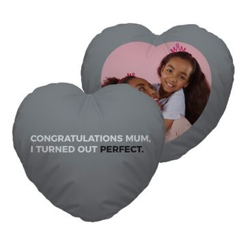 Personalised Congratulations Mum Heart Cushion