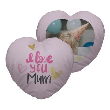 Personalised I Love You Mum Heart Cushion