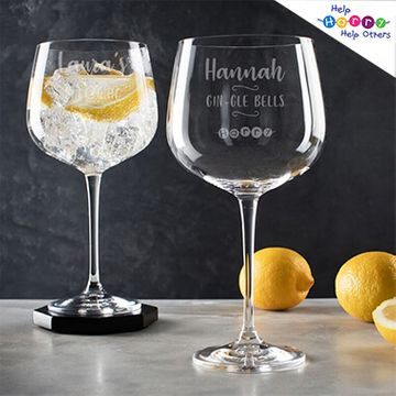 Help Harry Help Others Personalised Gin Goblet