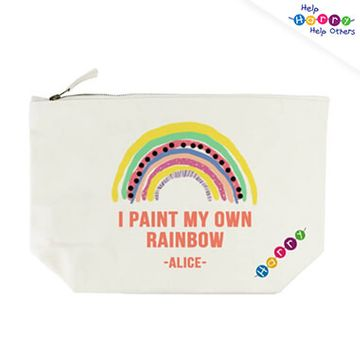 Help Harry Help Others Personalised My Own Rainbow Cream Wash Bag