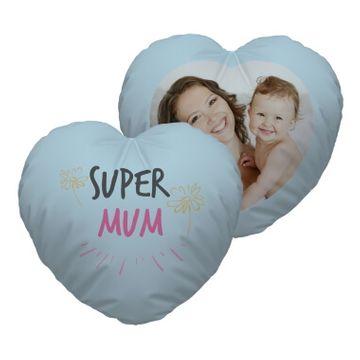 Personalised Super Mum Heart Cushion