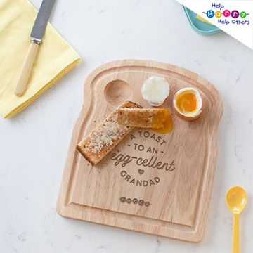Help Harry Help Others Personalised 'Egg-cellent' Egg and Toast Board