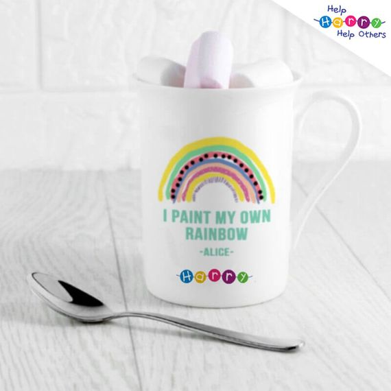 Help Harry Help Others Personalised My Own Rainbow Bone China Mug