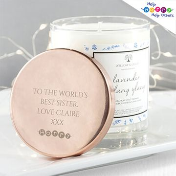 Help Harry Help Others Personalised Candle With Copper Lid