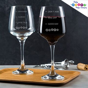 Help Harry Help Others Personalised Wine Glass
